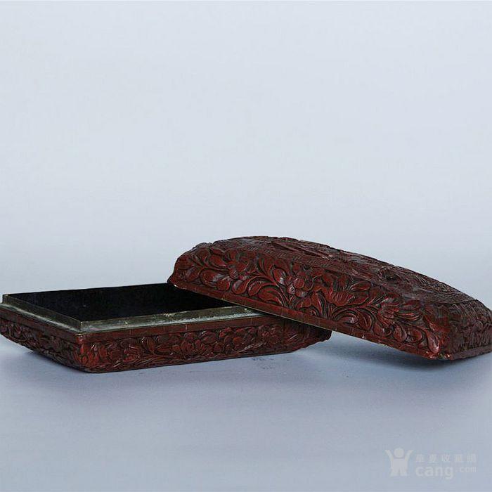 清代铜胎漆器花鸟人物饰品盒
