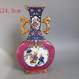 清代雍正年珐琅彩人物瓷瓶