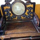 苏座老红木灵芝椅