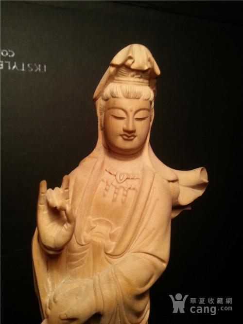黄杨木雕:非常漂亮的南海观音a12