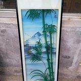 老玻璃画--竹画