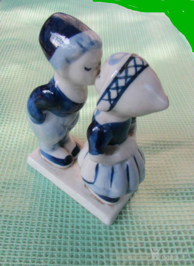 荷兰原版小孩之吻青花瓷(七十年代手工)