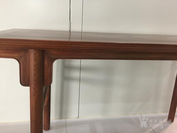 描述:血榉木平头案(老料新做),独板面,尺寸大,一流工艺,一流品相,花纹