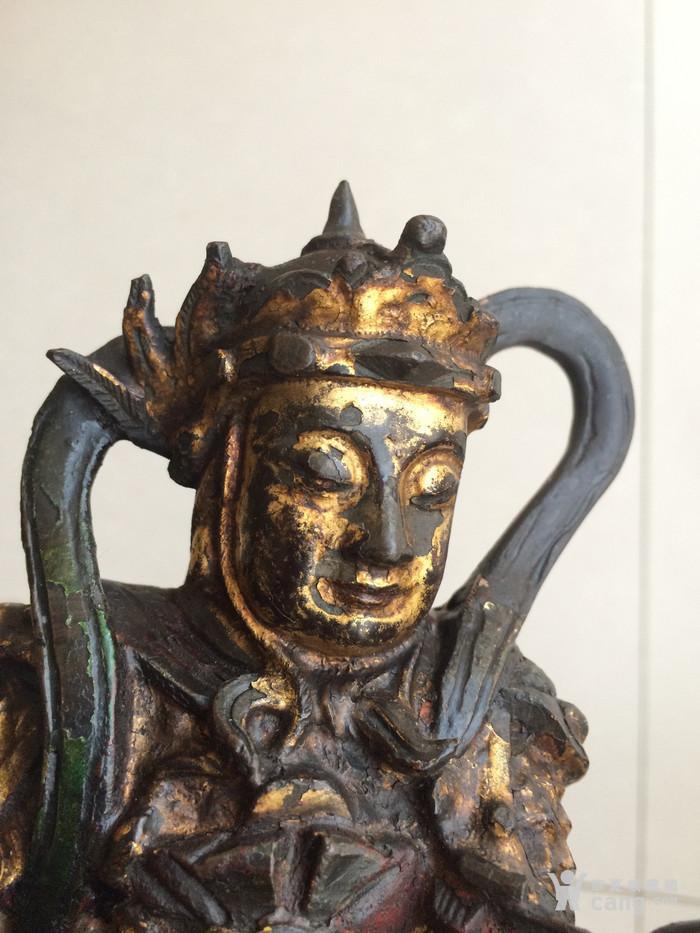 明代韦陀菩萨铜像
