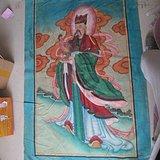 民国土布神仙画