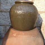 清---绿釉罐