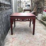 好品 民国 苏工 花梨面板  24勾 红榉八仙桌