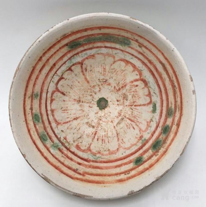 * 山西窑口红绿彩碗 全品