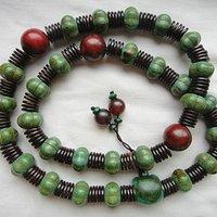 老绿松石项链