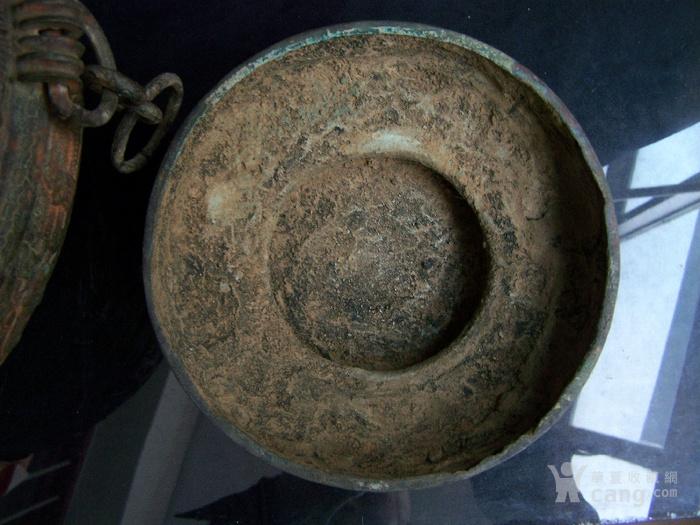 西周青铜女娲星际漫游图双连环耳18字铭带盖