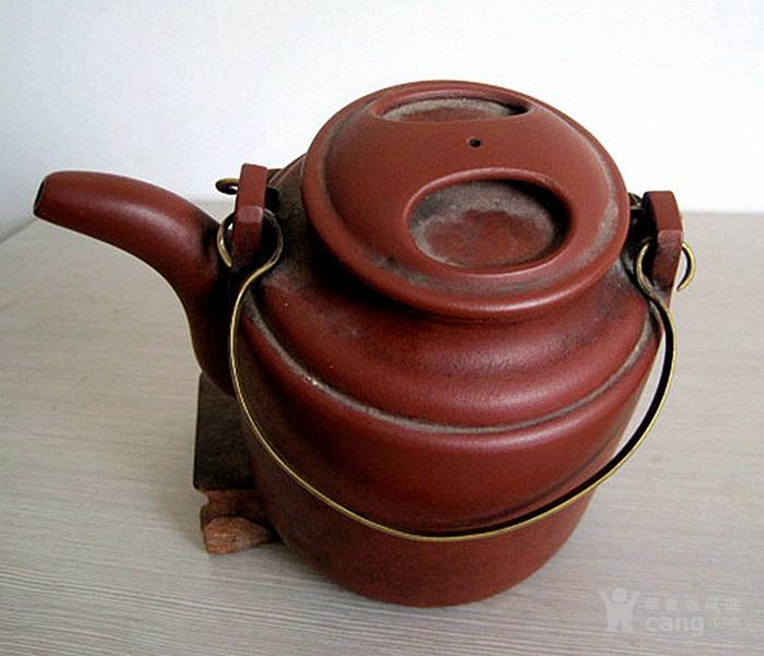 70年代~王寅春晚年作品~精品牛盖洋桶提梁紫砂壶