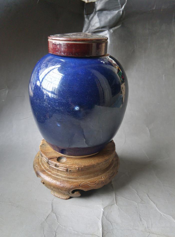 宝石蓝小罐