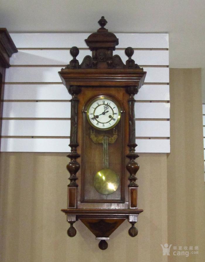 19世纪末 德国GB 精美木制大挂钟图1