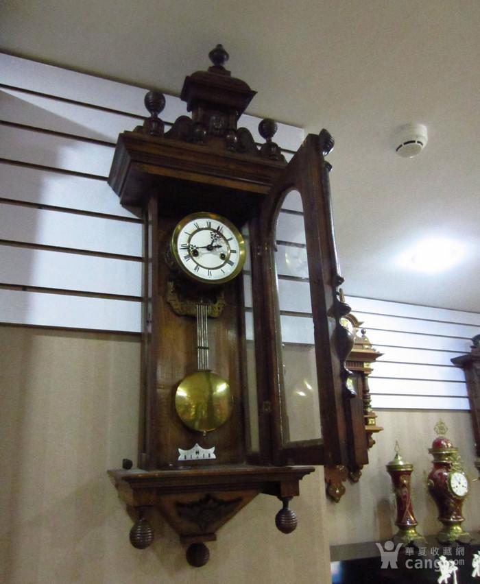 19世纪末 德国GB 精美木制大挂钟图2