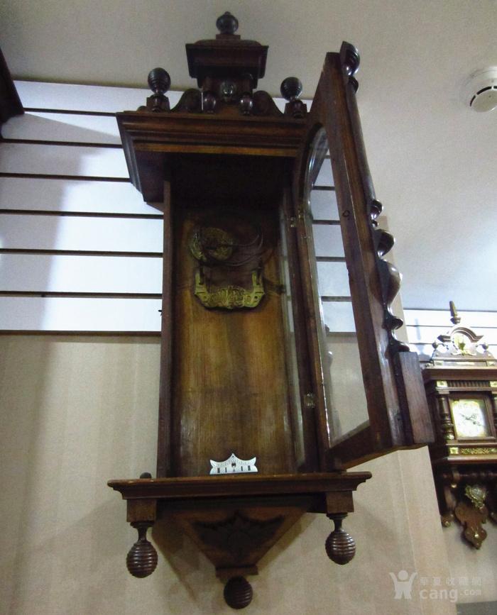 19世纪末 德国GB 精美木制大挂钟图3