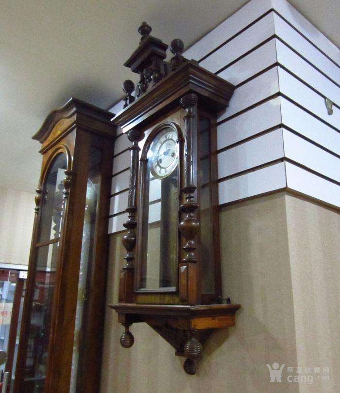 19世纪末 德国GB 精美木制大挂钟图4