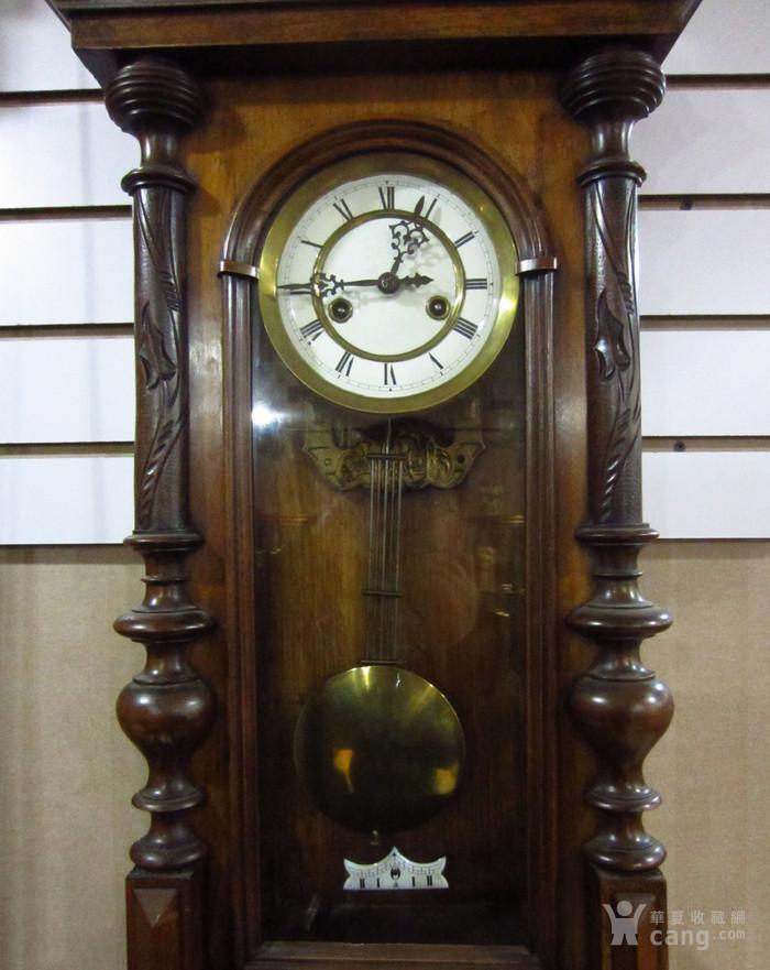 19世纪末 德国GB 精美木制大挂钟图5