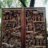 清代 矿彩 鎏金 人物典故 深雕挂屏 15967599861