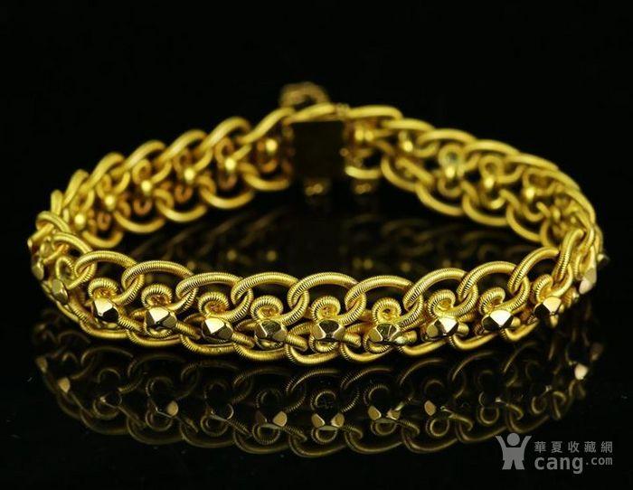 法国古董18k黄金手链