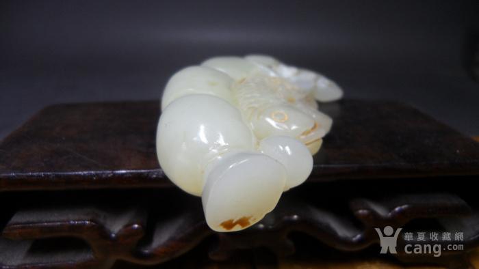 老和田玉连年有余玉鱼古玉老玉玉器古玩杂项古董收藏