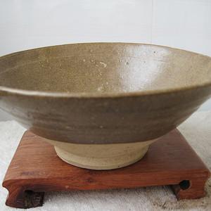 金元耀州窑茶叶沫釉大碗