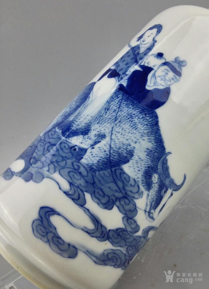 清光绪:青花八仙人物纹(软)棒槌瓶