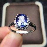 天然坦桑石戒指