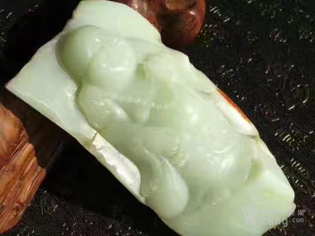 【重器】和田玉籽料 苏工 弥勒佛 摆件 玉质细腻图2