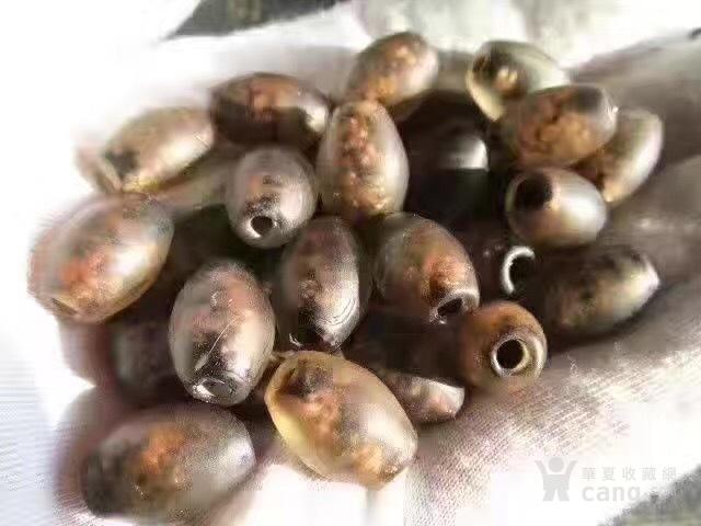 晚清 金花琉璃 26粒 橄榄珠图1