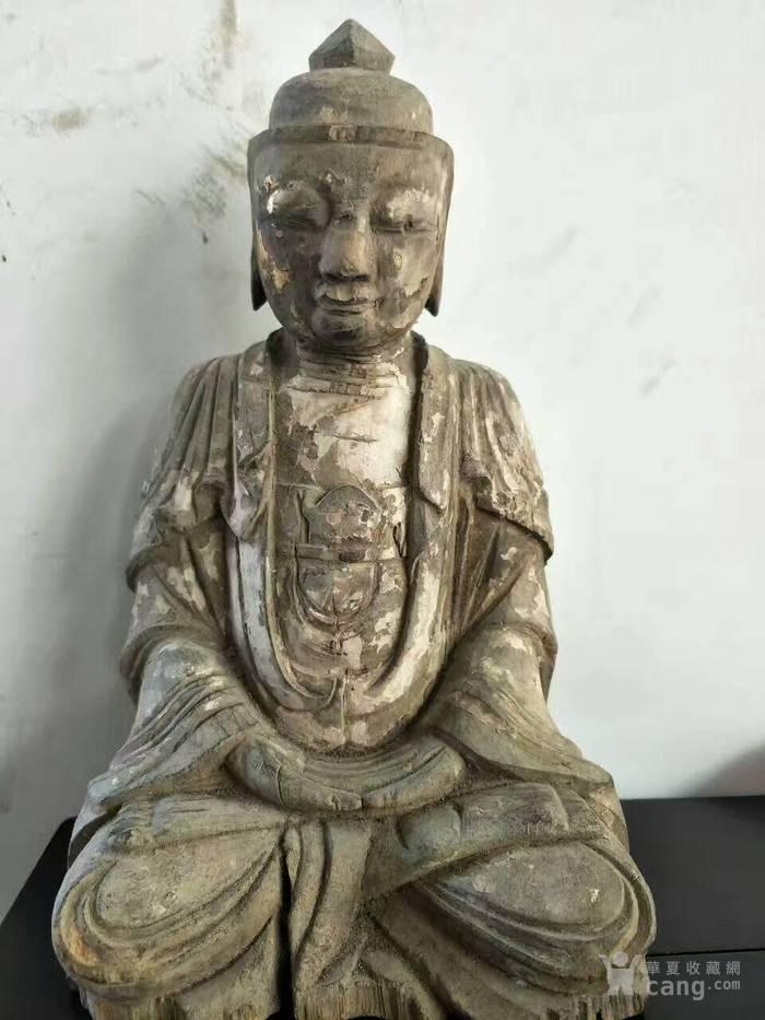 木雕观音佛像