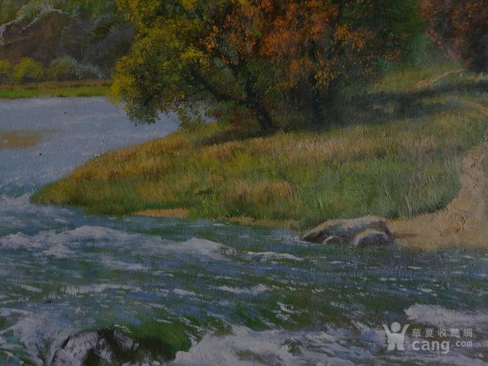 朝鲜 风景 油画