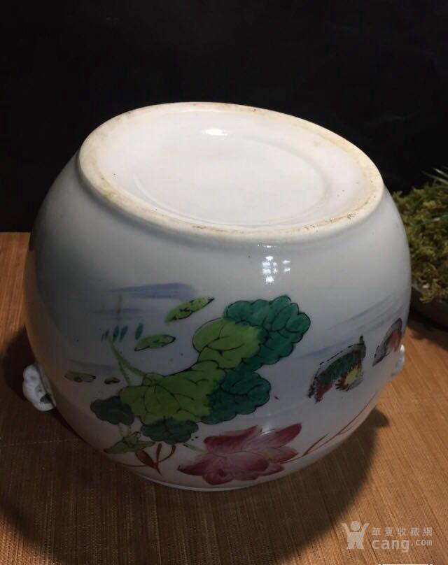 德化70年代国营厂生产的,手画五彩,当杯洗或养花图5