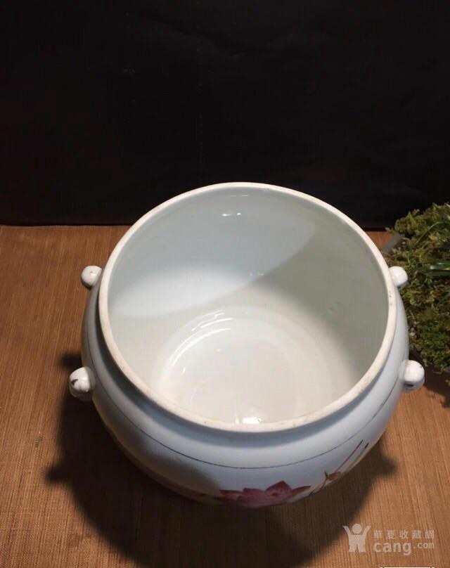 德化70年代国营厂生产的,手画五彩,当杯洗或养花图7