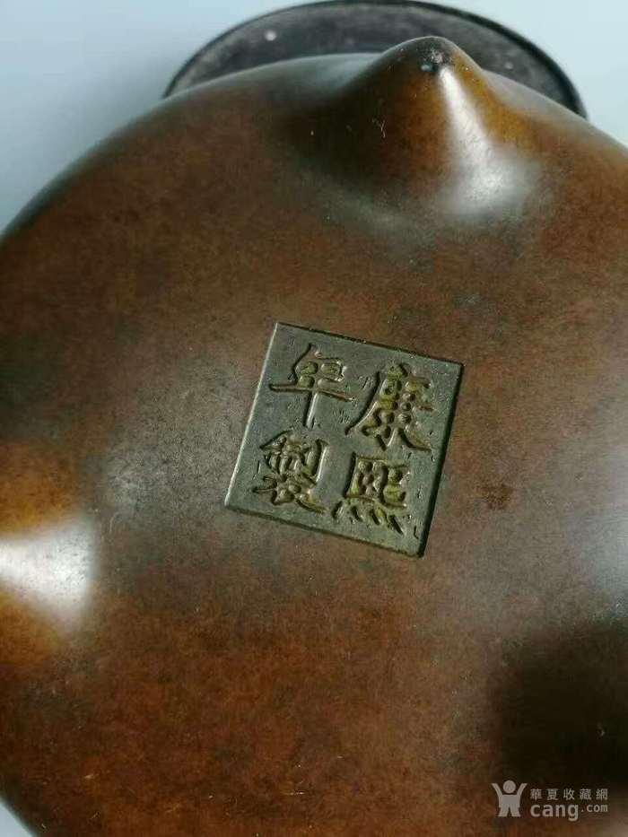 清康熙铜香炉