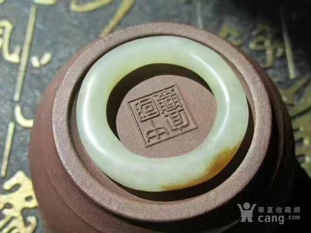 清 和田籽料 袈裟环 包浆老道 玉质图3