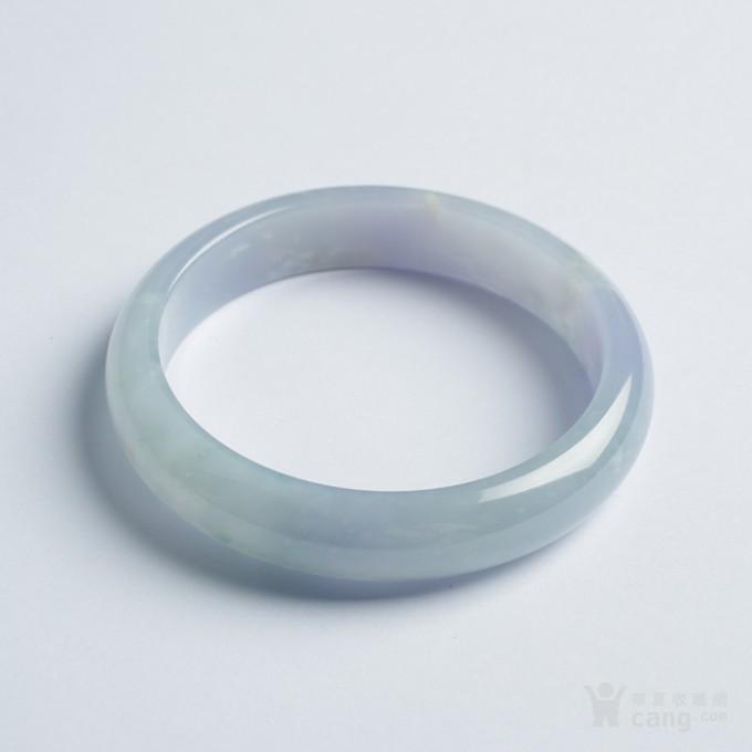 冰紫翡翠平安手镯(57mm)-32HR04图1
