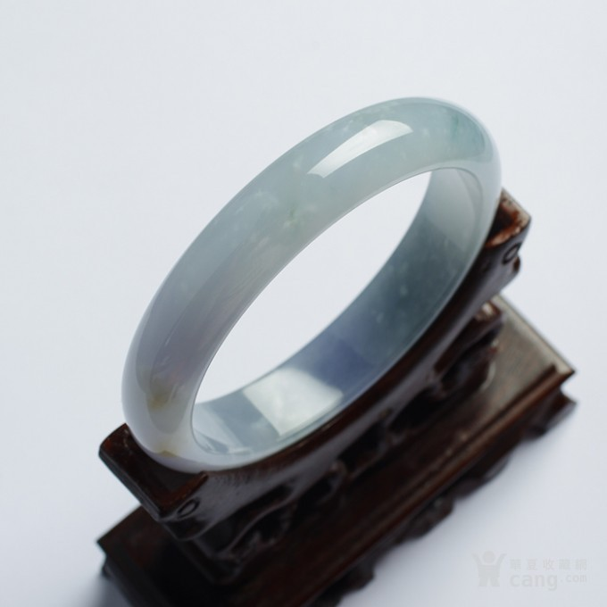 冰紫翡翠平安手镯(57mm)-32HR04图3