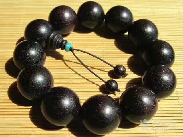 正宗 老料 爆金星 印度小叶紫檀 手串图2