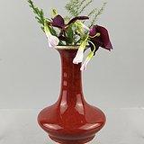 清中期:祭红釉小荸荠瓶