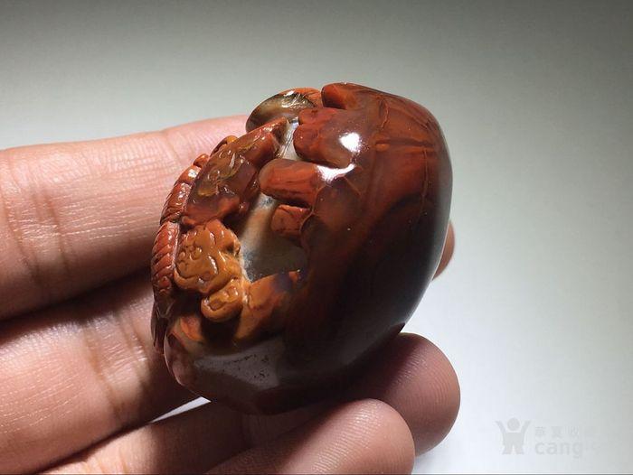 【精品】战国红 细肉 福在眼前 挂件 手工雕刻图6