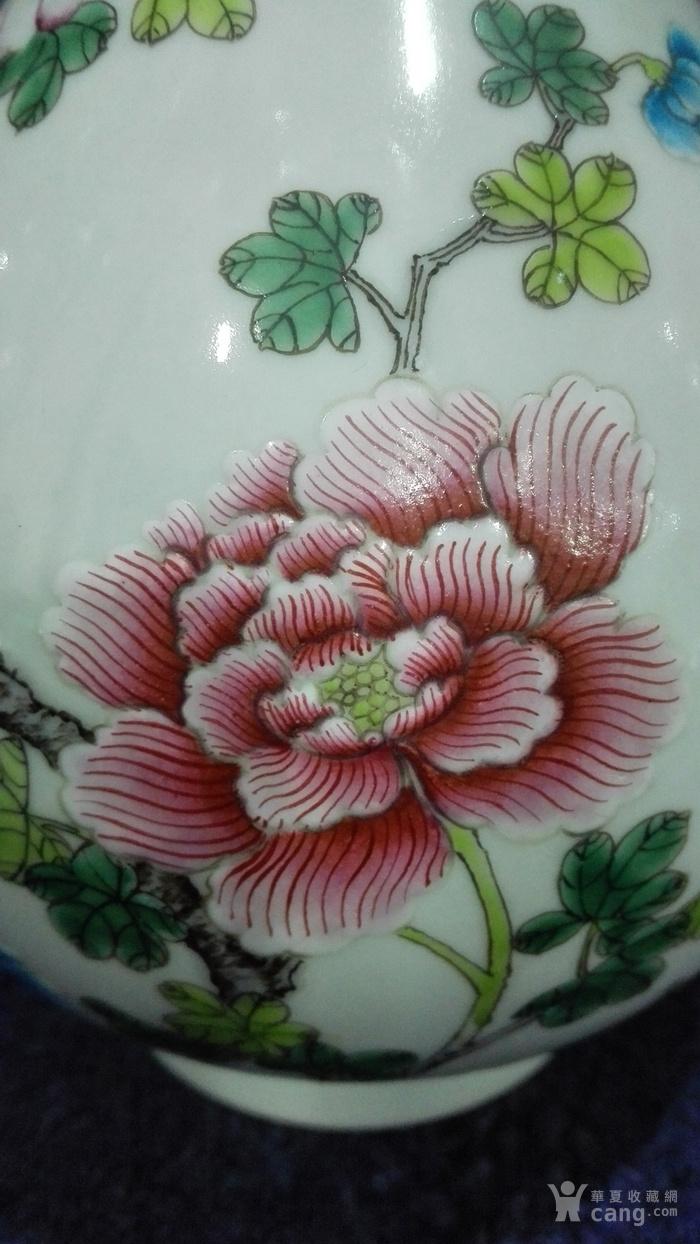 粉彩花卉玉壶春瓶