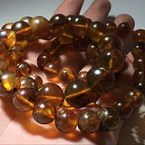 【回流】天然 金珀 链子 珠子个头大 包浆自然