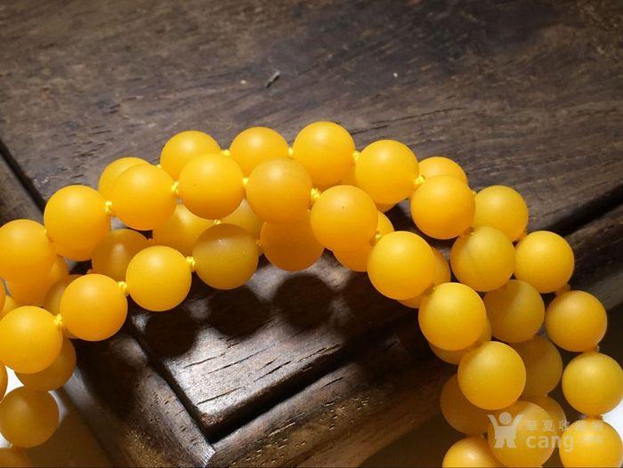 极品 戈壁 纯鸡油黄 玛瑙 108粒 颗颗精挑细选图4
