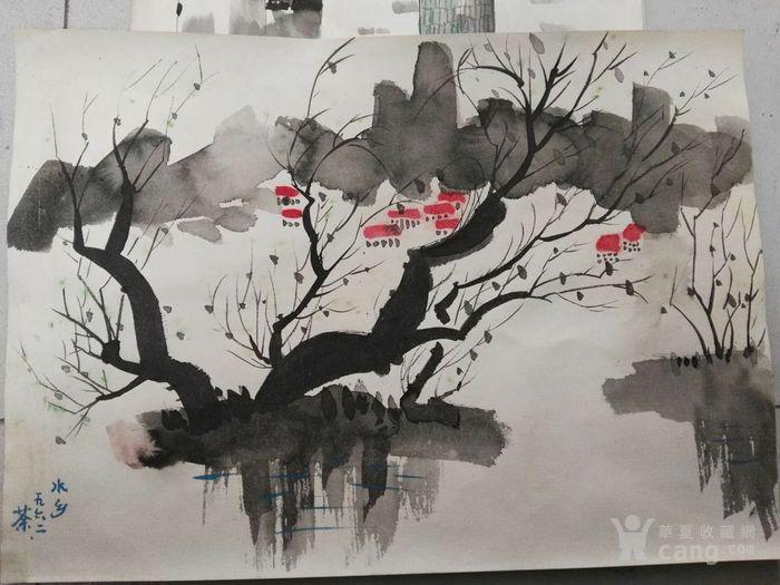 吴冠中水彩画稿8张