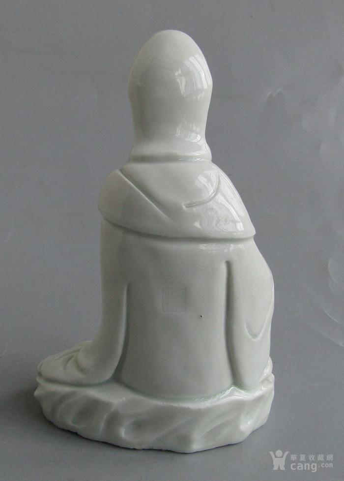 清代德化白瓷观音像图2