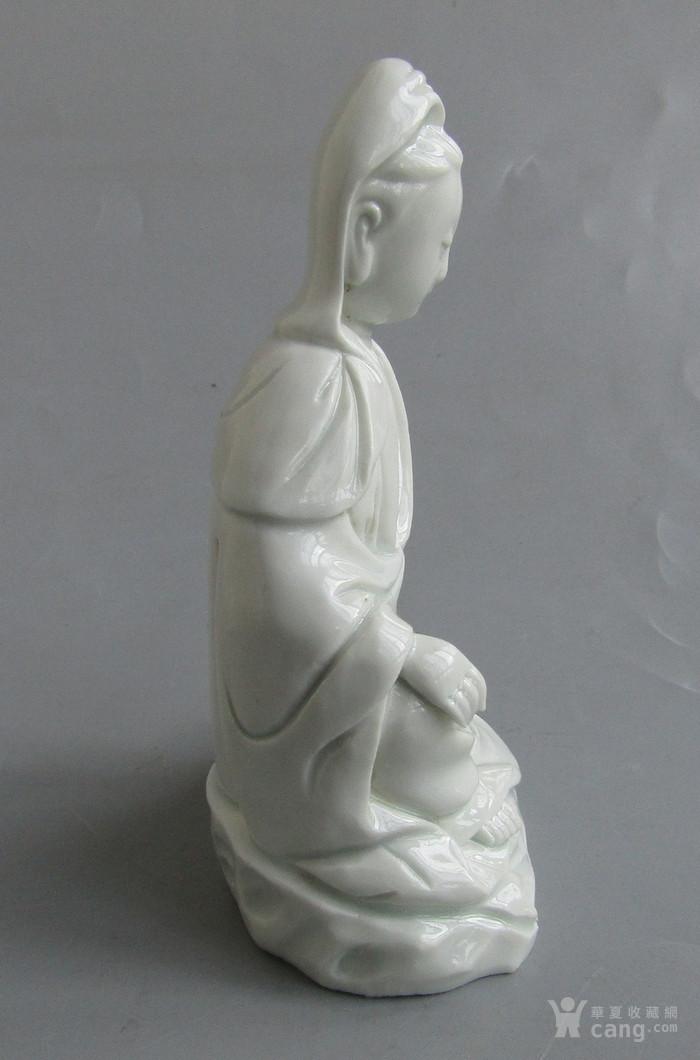 清代德化白瓷观音像图3