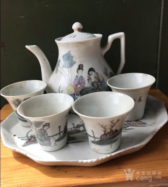 美术画画茶具杯子图片