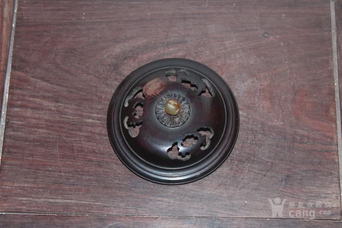 清代红木炉盖图1