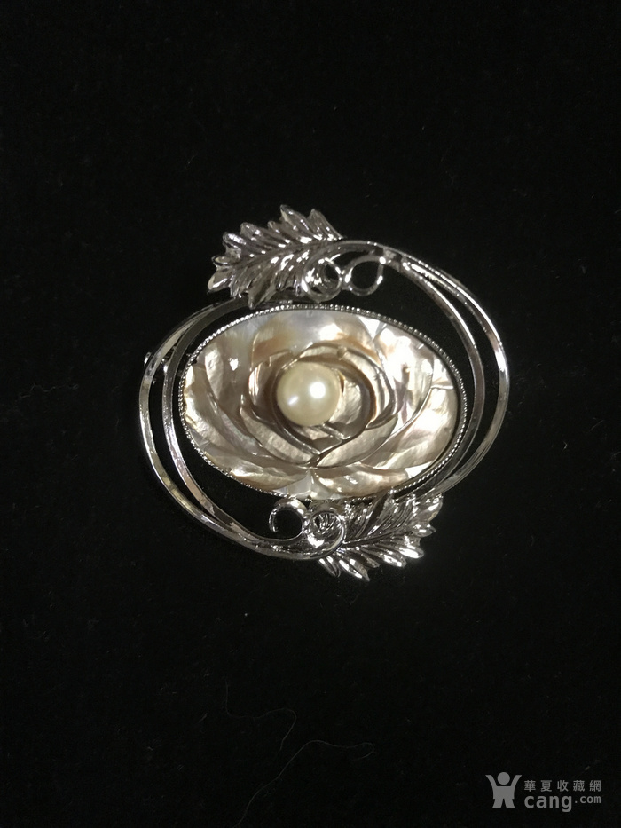 海水珍珠胸针