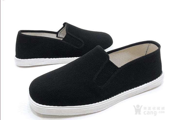 传统工艺 手工制作 全棉千层底黑布鞋圆头
